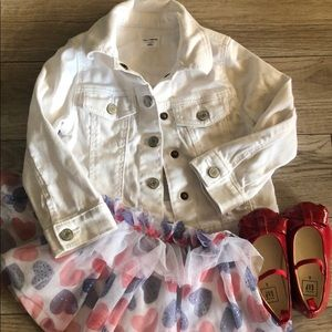 Red, White, and Blue. White baby Gap 2t jacket +